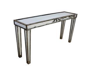 Consolle in metallo e vetro Royale - 154X40X78 cm