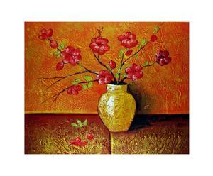 Dipinto olio su tela Calore ed atmosfera - 40X50 cm