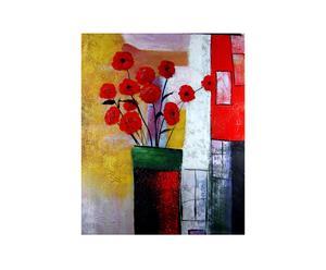 Dipinto olio su tela Un vaso enigmatico - 50X60 cm