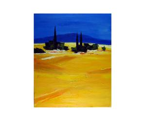 Dipinto olio su tela Distesa dorata - 50X60 cm