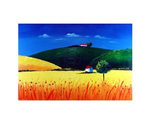 Dipinto olio su tela Paesaggio incantevole - 60X90 cm