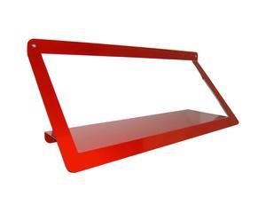 Mensola da parete in metallo Asola rossa - 80X31X25 cm