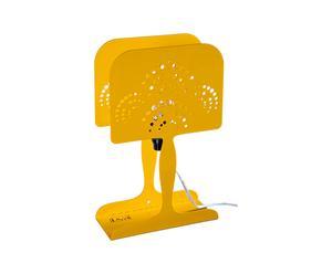 Lampada da tavolo in metallo Valeria gialla - 20X8X32 cm