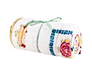 Quilt in cotone Big white roses - 270X180 cm