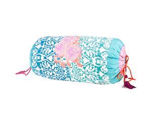 Cuscino a sacco in cotone Dam Dam turchese - 55X28 cm