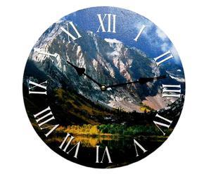 Orologio da parete in legno Montagna - D 34 cm