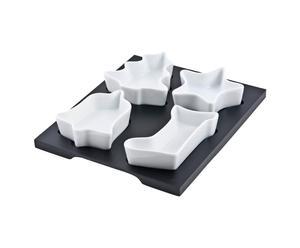Vassoio con 4 ciotole in ceramica Xmas