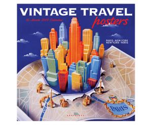 Calendario VINTAGE TRAVEL POSTERS - 30x30 cm