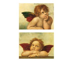 Set di 2 poster Putti by Raffaello - L24XA30 cm