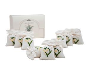sacchetti in lino profuma biancheria Mughetto - 9 pezzi