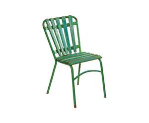 Set di 3 sedie in metallo e legno - design 1950