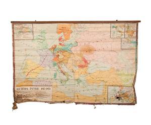 Carta geografica dell'Europa tra gli anni 1815 - 1871 - epoca 1980