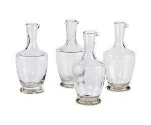 Set di 4 bottiglie per aceto in vetro trasparente - A 17 cm