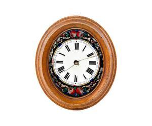 Quadrante di orologio decorativo in legno - 19X22X3 cm