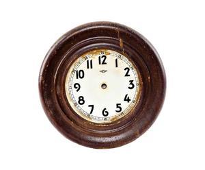 Quadrante di orologio decorativo in legno - D 26 cm
