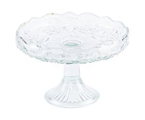 Fruttiera in vetro con decoro a stella design 1940 - A 18 cm