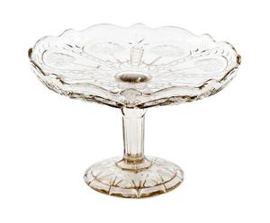 Fruttiera in vetro con decoro a fiori design 1940 - A 18 cm