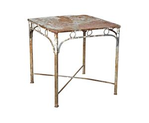Tavolino in ferro battuto design 1950 - 83X82X83 cm