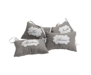 set di 4 cuscinetti in tessuto per porta Bonheur