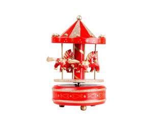 Carillon in legno Christmas Carousel
