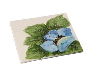 Sottopentola in ceramica Fiore blu - 20X20 cm