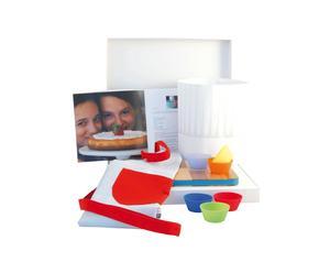 Set da cucina per bambini con grembiule e stampi in silicone