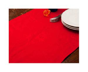 Runner antimacchia in cotone Deruta - rosso