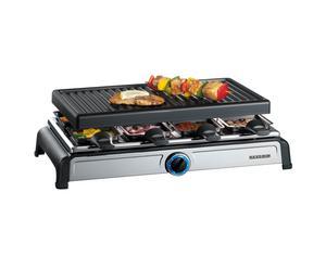 griglia da tavolo per barbecue raclette party grill severin - 36x20 cm