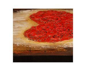 Tela dipinta a mano con decorazioni in foglia d'oro Amore - 80x80 cm