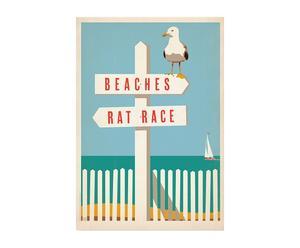 stampa decorativa Beaches Rat Race - 42x60 cm