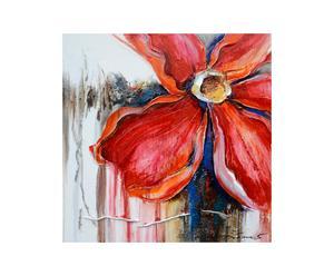 Olio su tela con telaio in legno Corolla - 100x100 cm