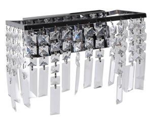 lampadario a sospensione in acciaio e cristallo pampille I - 30x25x15 cm