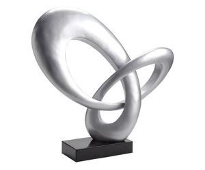 scultura decorativa in poliresina argento amsterdam - 71x21x68 cm