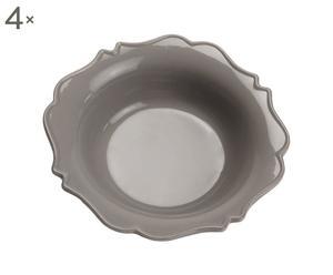 Set di 4 piatti fondi in ceramica Romantic - D21 cm