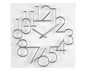 Orologio da parete in legno Numbers - 30X30X4 cm