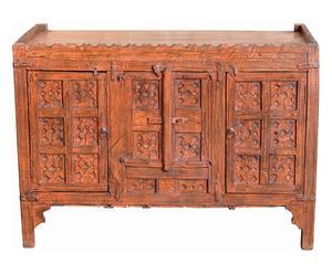 Credenza detta pitara antica indiana in teak - 116x83x53 cm
