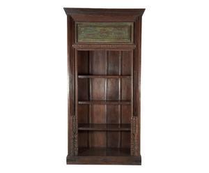 Libreria indiana antica in teak - 113x219x50 cm