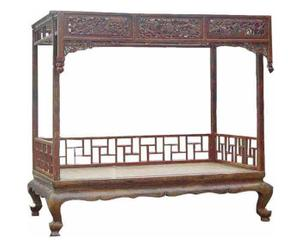 Letto a baldacchino antico cinese - inizio XIX sec.