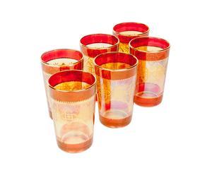 Set di 6 bicchieri in vetro Tensy - 6x10 cm