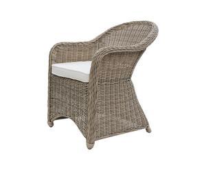 Sedia in vimini con cuscino AUGUSTA - 60x72x85 cm