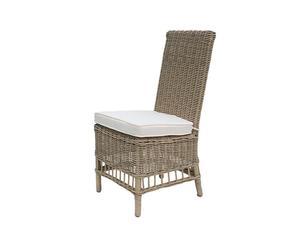 Sedia in vimini con cuscino ROYAL - 48x60x100 cm