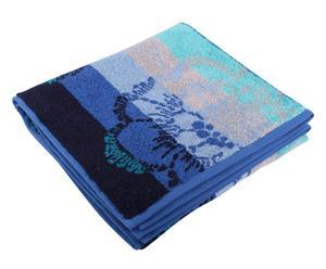 telo mare in cotone ischia blu - 70x140 cm