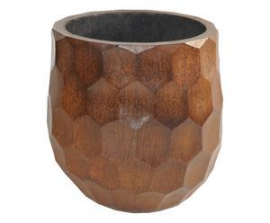Vaso in legno di palma Round - 60x50 cm