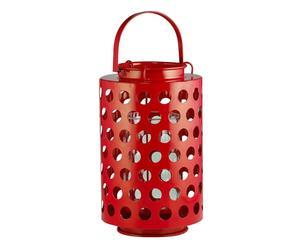 LANTERNA in METALLO Lucky rosso - H25 cm