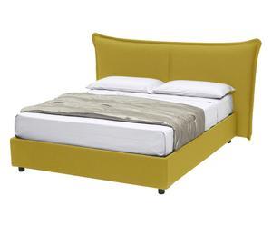 Struttura letto in cotone con CONTENITORE Dumbo giallo - 185x220x115 cm