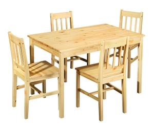 set tavola in pino massello rustic - 5 pezzi