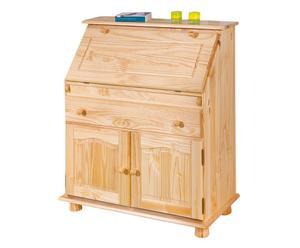 credenza in legno massello con ribalta rustic - 93x107x47 cm
