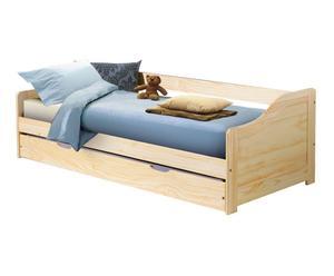letto in legno massello laura - 209x66x97 cm