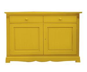 credenza in legno massello margot giallo - 139x100x58 cm