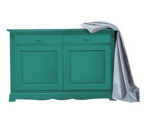 credenza in legno massello margot verde - 139x100x58 cm